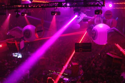 Winter Music Party at Mansion by UNITED LASER