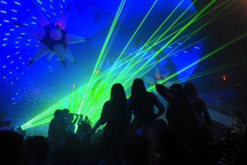 Lasers at CLUB LIV MIAMI by UNITED LASER