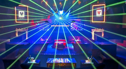 Lasers at Club Mansion Miami by United Laser